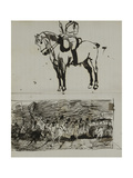 Study of the Battle of Waterloo Giclee Print by Lady Butler