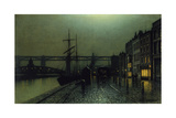 The Quayside, Newcastle Upon Tyne, 1895 Giclee Print by Arthur Grimshaw