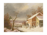 Old Mill in Winter, 1861 Giclee Print by George Henry Durrie