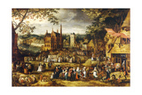 Village Fair Giclee Print by Jan Josef the Younger Horemans