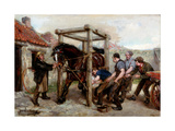 Shoeing the Bay Mare, C.1885-90 Giclee Print by Ralph Hedley