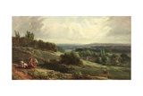 Landscape with Children Giclee Print by Samuel Bough