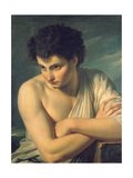 A Young Man Dressed as an Arcadian Shepherd Giclee Print by Francois Xavier Fabre