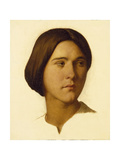 Head of a Young Woman Looking to Her Left, 19th Century Giclee Print by Hippolyte Flandrin