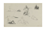 Possible Studies for 'Dawn of Waterloo', 1893 Giclee Print by Lady Butler