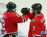 Duncan Keith & Brent Seabrook 2012-13 Action Photo