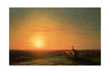 Peasants Returning from the Fields at Sunset, 19th Century Giclee Print by Ivan Konstantinovich Aivazovsky
