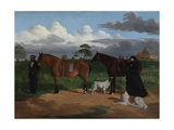 Mrs. Adolphus Sceales with Black Jimmie on Merrang Station, 1855-56 Giclee Print by Robert Dowling