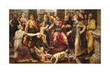 Judgment of Solomon Giclee Print by Frans Floris