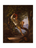A Young Boy Climbing a Tree, 1820s Giclee Print by Franz Ludwig Catel
