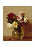 Roses, 1884 Giclee Print by Ignace Henri Jean Fantin-Latour