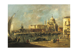 View of the Dogana and Santa Maria Della Salute, Venice Giclee Print by Francesco Guardi