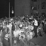 Evangelistic Society Meeting, East 79th Street and Avenue A, New York City, July 24, 1914 Photographic Print by William Davis Hassler