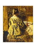 The Meal or Woman Seen from the Back Giclee Print by Henri De Braekeleer