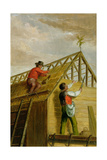 Barn Builders, 1836 Giclee Print by Asher Brown Durand