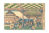 Newly Published Perspective Picture: Urashima Entering the Dragon Palace Giclee Print by Katsushika Hokusai