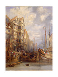 Grey Horse Inn', Quayside, Newcastle Upon Tyne, C.1830-35 Giclee Print by George Balmer