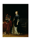 Portrait of a Young Woman, C.1665-70 Giclee Print by Gerard ter Borch