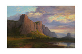 Mount Arapiles and the Mitre Rock, 1863 Giclee Print by Nicholas Chevalier