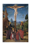 The Crucifixion with Mary, John, Mary Magdalene and a Benefactor, C.1480 Giclee Print by Lorenzo Costa