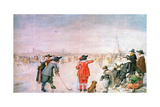 Golf on the Ice on the River Ijsel Near Kampen Giclee Print by Hendrik Avercamp