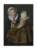 Catharina Hooft with Her Nurse, C.1619-20 Giclee Print by Frans Hals