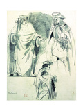 Study of Three Figures in Historical Dress Giclee Print by Ferdinand Victor Eugene Delacroix