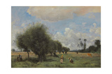 Fields Near Étampes, C.1855-60 Giclee Print by Jean Baptiste Camille Corot