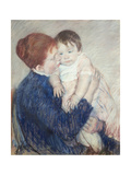 Agatha and Her Child, 1891 Giclee Print by Mary Cassatt