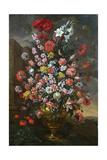 Lilies, Tulips, Carnations, Peonies, Convolvuli and Other Flowers in a Bronze Urn, 1718 Giclee Print by Bartolomeo Bimbi
