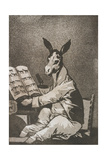 Plate from Los Caprichos [As Far Back as His Grandfather], 1797-1798 Giclee Print by Francisco de Goya