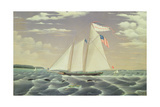 Schooner 'Lewis R. Mackey', 1854 Giclee Print by James Bard