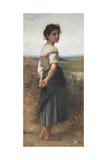 The Young Shepherdess, 1885 Reproduction procédé giclée par William-Adolphe Bouguereau