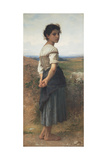 The Young Shepherdess, 1885 Giclée-tryk af William-Adolphe Bouguereau