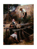 Woodsawyers, 1896 Giclee Print by Ralph Hedley