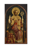 A Bishop Saint, 15th Century Giclee Print by Michele Giambono
