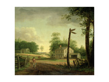 Wayside Inn on Route to Philadelphia Giclee Print by Thomas Birch