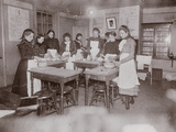 Cooking School Class in College Settlement. the 'Boss Temperance Sermon', C.1895 Photographic Print by Jacob August Riis
