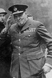 Portrait of Winston Churchill in Raf Uniform Returning from the Casablanca Conference Photographic Print
