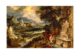 Landscape with Diana and Actaeon Giclee Print by Xavier Mellery