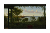 From the Verandah of Purrumbete, 1858 Giclee Print by Eugen von Guerard