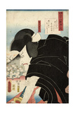 The Poet Sosei Hoshi: the Actor Matsumoto Koshiro V as Ishikawa Goemon, 1852 Giclee Print by Utagawa Kunisada