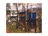 House Boats, Loch Lomond Giclee Print by George Leslie Hunter