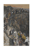 The Brow of the Hill Near Nazareth from 'The Life of Our Lord Jesus Christ' Giclee Print by James Jacques Joseph Tissot
