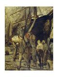 Unloading the Ship Giclee Print by Constantin Emile Meunier