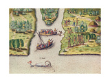 The French Discover the River of May Giclee Print by Jacques Le Moyne