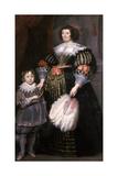 Madame Charlotte Butkens-Smit Van Cruyninghen and Her Son Johannes-Amatus Giclée-Druck von Cornelis de Vos