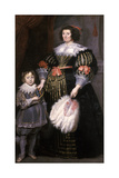 Madame Charlotte Butkens-Smit Van Cruyninghen and Her Son Johannes-Amatus Giclee Print by Cornelis de Vos