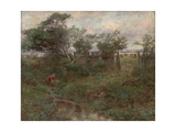 The Broken Fence, 1907 Giclee Print by Frederick McCubbin