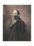 Auguste Vacquerie, C.1865 Giclée-trykk av  Nadar